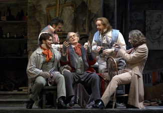 As Schaunard in La Boheme for Canadian Opera Company
