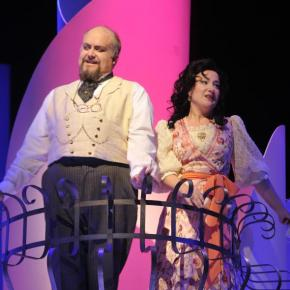 As Bartolo with Julie Boulianne (Rosina)