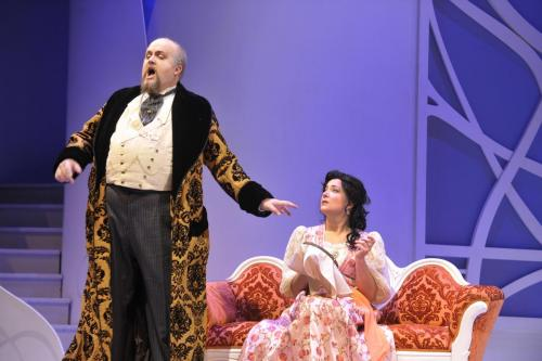 As Bartolo with Julie Boulianne (Rosina)