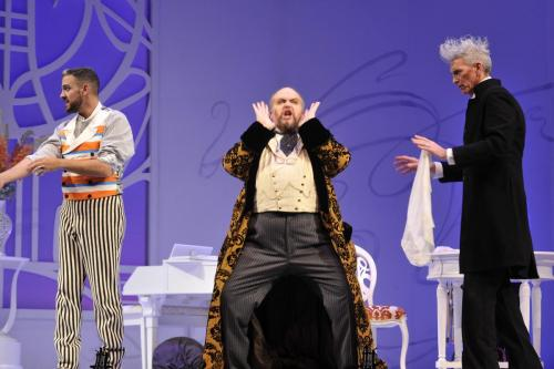 As Bartolo with Armando Noguera (Figaro) and Jaime Offenbach (Basilio)