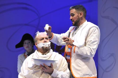 Dr. Bartolo in Barber of Seville for Opera de Québec (with Armando Noguera as Figaro)