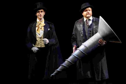 Robertson in the Perfect Screw for Tapestry Opera (with Scott Belluz as Henry Ford)