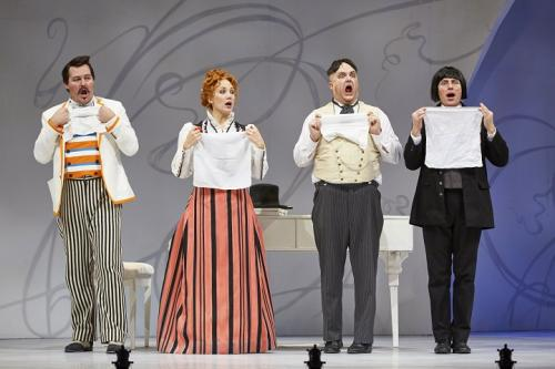 As Bartolo with Russell Braun (Figaro), Andrea Hill (Rosina) and John Tessier (Almaviva)